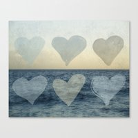hearts Canvas Prints featuring Hearts by Pure Nature Photos