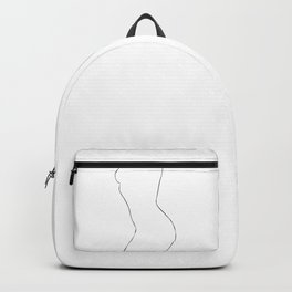Nude Minimal Drawing Illustration Backpack