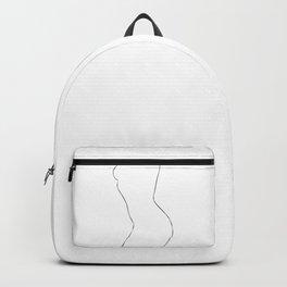 Nude Minimal Drawing Illustration Backpack