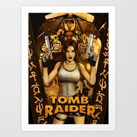 tomb raider Art Prints featuring Tomb Raider by KeithByrneFX