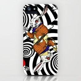 White Rabbit Vortex iPhone Case