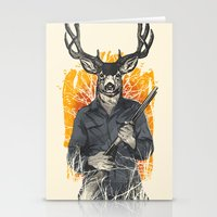 hunting Stationery Cards featuring Hunting Season by Niel Quisaba