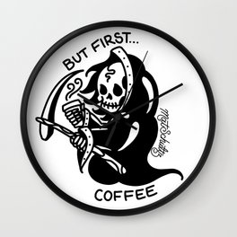 But First... Coffee Wall Clock