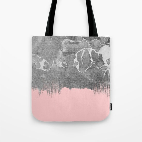 Crayon Marble with Pink Tote Bag