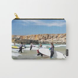 Rocks sea, travel surf beach nautical landscape Perfect day for surf Carry-All Pouch