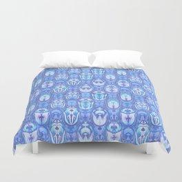 Beetles in Blue Duvet Cover