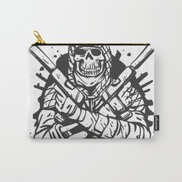 Military skull with guns Carry-All Pouch