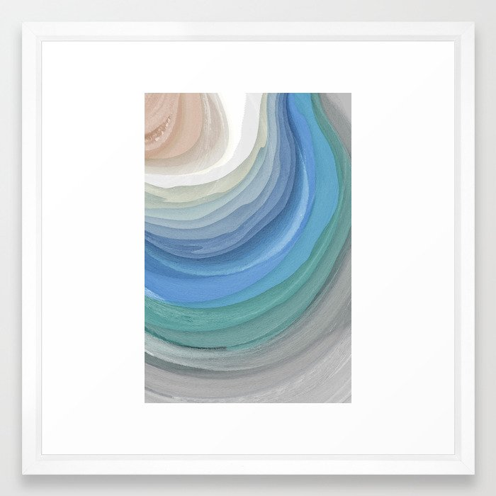 Topography Framed Art Print