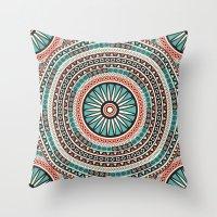 islam Throw Pillows featuring Endless mandala by Rceeh