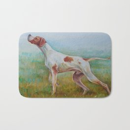 ENGLISH POINTER IN THE FIELD Classic hunting scene Landscape Bath Mat