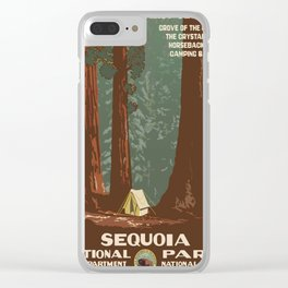 Vintage poster - Sequoia National ParkX Clear iPhone Case