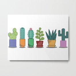 Cactus flat design Metal Print