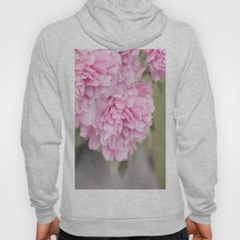 Pink Peonies On A Green And Grey Background #society6 #buyart Hoody