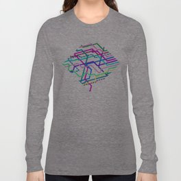 Hipster Railroad Diamond Long Sleeve T-shirt
