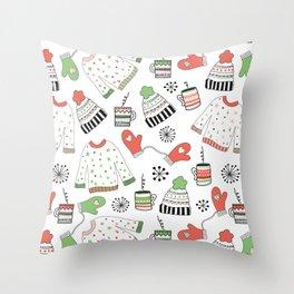 Warm Winter Wear Throw Pillow