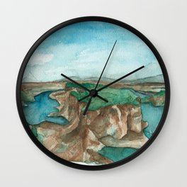Cove Palisades, Oregon landscape Wall Clock