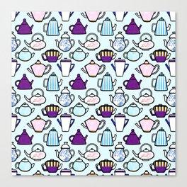 Tea Pot Pattern Canvas Print