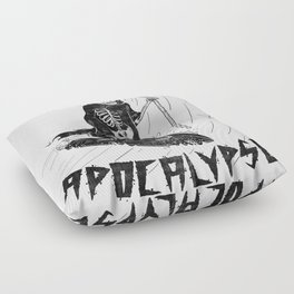 Surf Now, Apocalypse Later Floor Pillow
