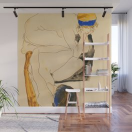 """Egon Schiele """"Zwei Liegende Figuren"""" Wall Mural"""