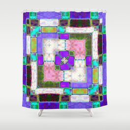 Glass Block Abstract Shower Curtain