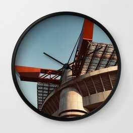 Architecture photography, San Siro Stadium, italian Serie A, sport building, stadio Giuseppe Meazza, sports Wall Clock
