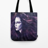 storm Tote Bags featuring Storm by Spoken in Red