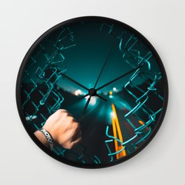 San Francisco Horizon in a Hole Wall Clock