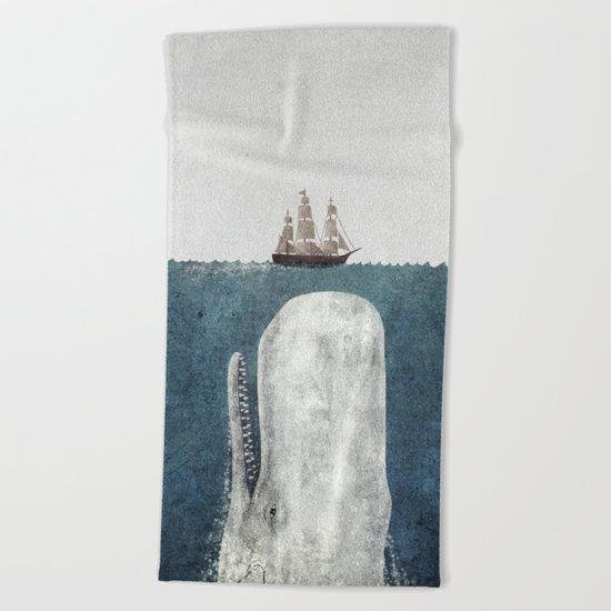 The Whale - vintage  Beach Towel