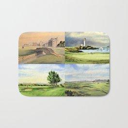 Famous Golf Courses Of Scotland - St Andrews Turnberry Carnoustie Royal Troon Bath Mat
