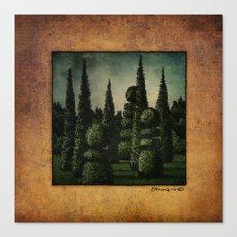 Secret Moonrise Garden Canvas Print