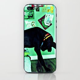 just like the man whose feet were too big for his bed. iPhone Skin