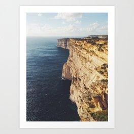 Cliffs edge #2 Art Print