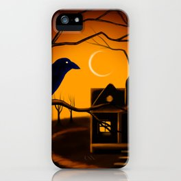 Under the Eyes of the Crow iPhone Case