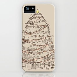 chirstmas tree iPhone Case