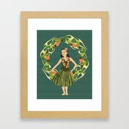 Hula Pineapple Wreath Framed Art Print