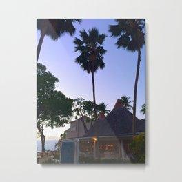 sunset tropical resort views Metal Print