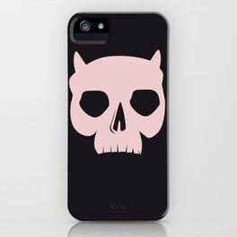 PINK DEMON SKULL iPhone Case