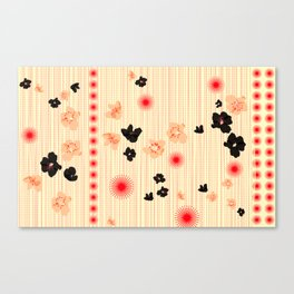 spotted blooms Canvas Print