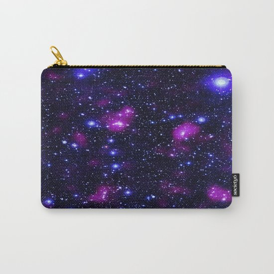 GalAxy Purple Blue Stars Carry-All Pouch
