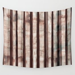 Birch Marsala Watercolor Wall Tapestry