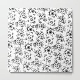 trad flowers Metal Print