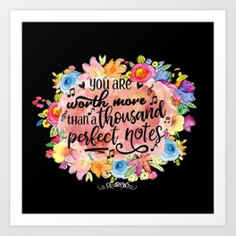 A Thousand Perfect Notes Quote Art Print