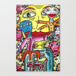 Viggo Vake  Mirror People 2016 Canvas Print