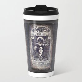 Metamorphosis by The Wolf Man: A Full Service Hair Salon (Old Metal Sign) Travel Mug