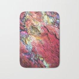 Colorful Nature : Texture Rainbow Magenta Bath Mat