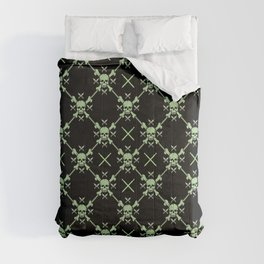 Skull Pattern | Bones Heavy Metal Cemetery Comforters