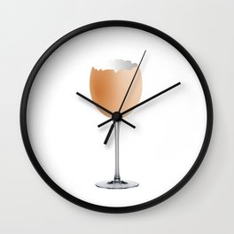 Wineglass Wall Clock