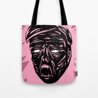 horror Tote Bags featuring Horror by Olivier Carignan