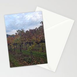 Vineyard in Autumn Stationery Cards
