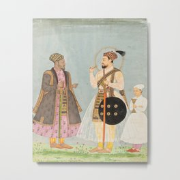 Muhammad Adil Shah of Bijapur and his African Prime Minister Ikhlas Khan  Metal Print
